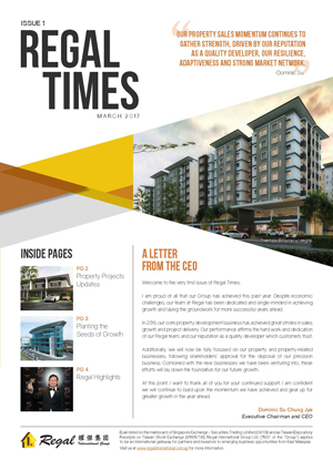 Regal Times - Issue 1