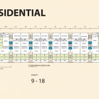 Residential Sublot 9-18 Second Floor Plan