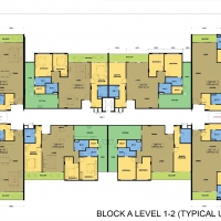 Block A Level 1-2 Floor Plan (Typical Unit - 3 Rooms)