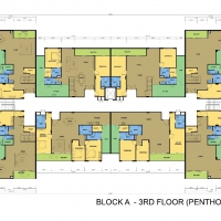 Block A - 3rd Floor Plan (Penthouse : 3 - 5 Rooms)